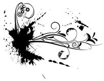 ornamento del fiore del grunge Immagini Stock