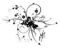 Ornamento del fiore di Grunge Fotografia Stock