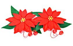 Ornamento del fiore di natale Fotografia Stock