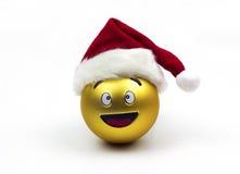 Ornamento del fronte di sorriso di Natale isolato Immagini Stock