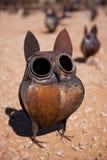 Ornamento del gufo del metallo Fotografia Stock Libera da Diritti