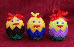 Ornamento del huevo de Pascua de la cinta Fotografía de archivo libre de regalías