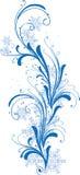 Ornamento del invierno con los copos de nieve Fotos de archivo