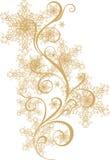 Ornamento del invierno con los copos de nieve ilustración del vector