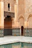 Ornamento del madrasah de Marrakesh Fotografía de archivo