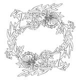 Ornamento del marco de la flor libre illustration