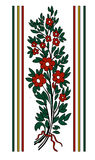 Ornamento del mazzo del fiore di vettore Immagine Stock