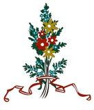 Ornamento del mazzo del fiore di vettore Fotografia Stock