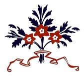 Ornamento del mazzo del fiore di vettore Immagine Stock Libera da Diritti