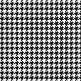 Ornamento del modello di vettore del dente di segugi Colore geometrico della stampa in bianco e nero Plaid inglese classico della royalty illustrazione gratis