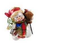 Ornamento del muñeco de nieve de la Navidad imagenes de archivo
