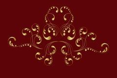 Ornamento del oro Imagen de archivo libre de regalías