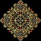 Ornamento del oro Imágenes de archivo libres de regalías