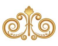Ornamento del oro stock de ilustración
