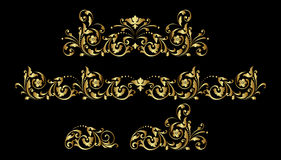 Ornamento del oro Imagenes de archivo