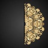Ornamento del oro del vector. Imagen de archivo