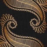 Ornamento del oro del vector. Foto de archivo