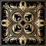 Ornamento del oro del vector Imagenes de archivo