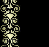 Ornamento del oro en fondo negro Imagen de archivo libre de regalías