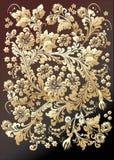 Ornamento del oro en fondo oscuro libre illustration