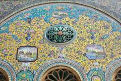 Ornamento del palazzo di Golestan a Teheran Immagini Stock