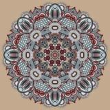Ornamento del pizzo del cerchio, geometrico ornamentale rotondo Fotografia Stock