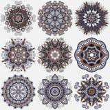 Ornamento del pizzo del cerchio, geometrico ornamentale rotondo Immagini Stock Libere da Diritti