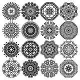 Ornamento del pizzo del cerchio, geometrico ornamentale rotondo Fotografie Stock Libere da Diritti