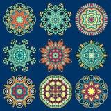 Ornamento del pizzo del cerchio, geometrico ornamentale rotondo Fotografia Stock Libera da Diritti