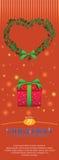 Ornamento del ramo de la guirnalda de la uva para el anuncio del aviador de la Navidad Foto de archivo libre de regalías