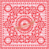 Ornamento del ` s del biglietto di S. Valentino Immagini Stock Libere da Diritti