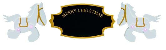 Ornamento del segno di Natale Fotografia Stock Libera da Diritti