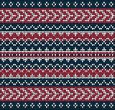 Ornamento del suéter del modelo que hace punto Fotografía de archivo