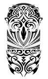 Ornamento del tatuaggio di dimensione della manica Immagini Stock