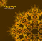 Ornamento del vector del oro Imagen de archivo libre de regalías