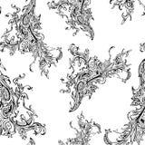 Ornamento del vector en líneas que entretejen de la flor libre illustration