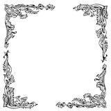 Ornamento del vector en líneas que entretejen de la flor stock de ilustración