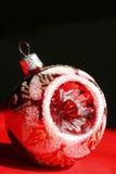 Ornamento del vidrio de la Navidad Fotografía de archivo libre de regalías