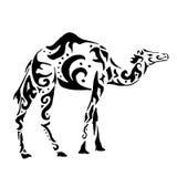 Ornamento del vintage del camello stock de ilustración
