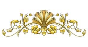 Ornamento del vintage del oro Imagen de archivo libre de regalías