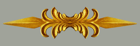 Ornamento del vintage plateado oro floral Fotos de archivo libres de regalías