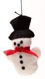 Ornamento dell'albero di Natale del pupazzo di neve Fotografia Stock Libera da Diritti