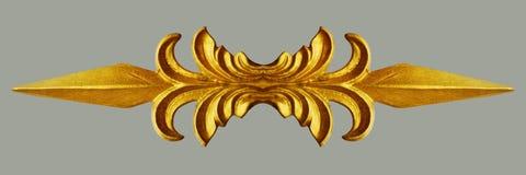 Ornamento dell'annata placcata oro floreale Fotografie Stock Libere da Diritti