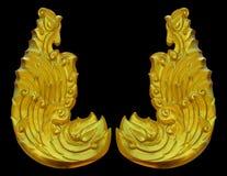 Ornamento dell'annata placcata oro floreale Fotografia Stock