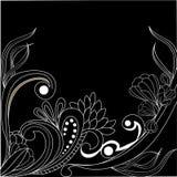 Ornamento dell'annata sul nero royalty illustrazione gratis