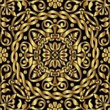 Ornamento dell'asiatico dell'oro Fotografia Stock