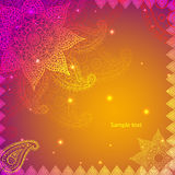Ornamento dell'indiano dell'annata Fotografie Stock