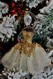 Ornamento della ballerina dell'oro Fotografia Stock
