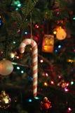 Ornamento della canna di caramella Fotografie Stock Libere da Diritti