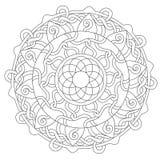 Ornamento della decorazione della corda di coloritura royalty illustrazione gratis
